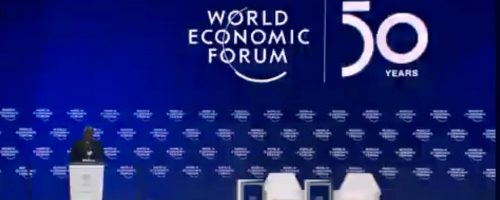Pope to World Economic Forum: human person the centre of integral development